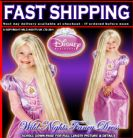 FANCY DRESS ~ GIRLS DISNEY TANGELD RAPUNZEL GLOW IN THE DARK WIG